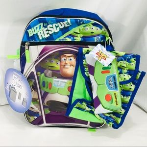 Disney Toy Story 4 Buzz Light Year Backpack, Blue